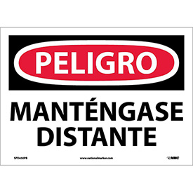 Spanish Vinyl Sign - Peligro Manténgase Distante