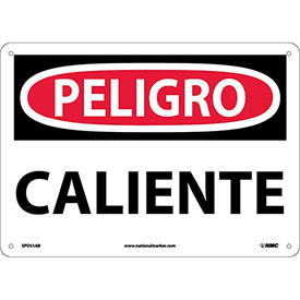 Spanish Aluminum Sign - Peligro Caliente