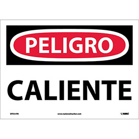 Spanish Vinyl Sign - Peligro Caliente