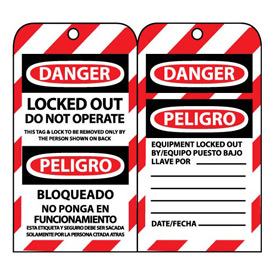 Bilingual Lockout Tags - Locked Out Do Not Operate