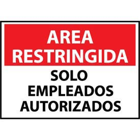 Restricted Area Plastic Spanish Solo Empleados Autorizados by