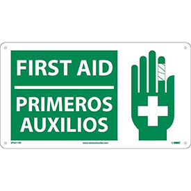 Bilingual Plastic Sign - First Aid