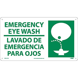 Bilingual Plastic Sign - Emergency Eye Wash