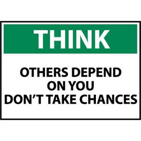 Think Osha 10x14 Aluminum - Others Depend On You Don't Take Chances