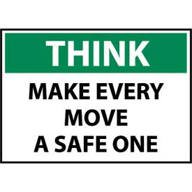 Think Osha 10x14 Vinyl - Make Every Move A Safe One
