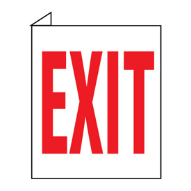 Facility Flange Sign - Exit