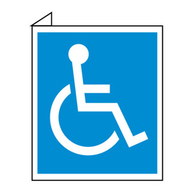 Facility Flange Sign - Handicapped Symbol