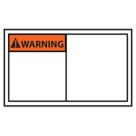 Graphic Machine Labels - Warning Blank With Header Only