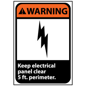 Warning Sign 14x10 Rigid Plastic - Keep Electrical Panel Clear