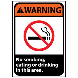 Warning Sign 14x10 Aluminum - No Smoking, Eating Or Drinking