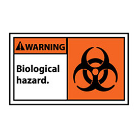 Graphic Machine Labels - Warning Biological Hazard