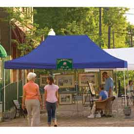 10x15 Straight Leg Pop Up Canopy - Blue Cover