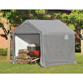 ShelterLogic, Shed-in-a-box, Canopy Storage Shed 6'L x 6'W x 6'H, Gray by