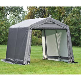 """6x12x8 Peak Style Shed 4-15"""" Augers 1-3/8"""" Frame Grey by"""