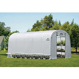 ShelterLogic, 70592, GrowIt Heavy Duty Walk-Thru Greenhouse Round-Style 12 ft. x 20 ft. x... by