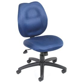 Boss Task Chair - Fabric - Mid Back - Blue