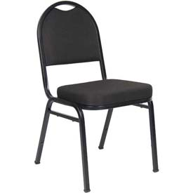 Boss Banquet Chairs - Fabric -  Black - Set of 4