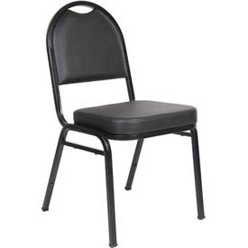 Boss Banquet Chairs - Vinyl - Black - Set of 4