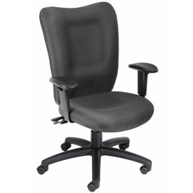 Boss Multifunction Task Chair with Arms - Fabric - Mid Back - Gray