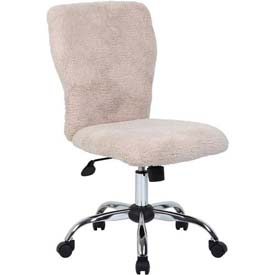 Boss Office Chair - Sherpa Fur - Mid Back - Cream