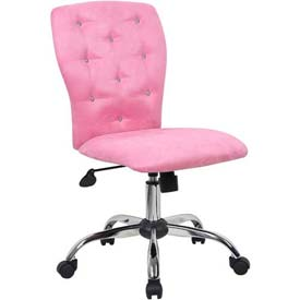Boss Office Chair - Microfiber - Mid Back - Pink