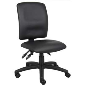 Boss Multifunction Office Chair - Leather - Mid Back - Black