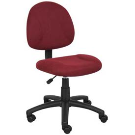 Boss Deluxe Posture Chair - Fabric - Burgundy