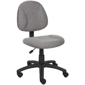 Boss Deluxe Posture Chair - Fabric - Gray