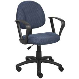 Boss Deluxe Posture Chair with Loop Arms Blue