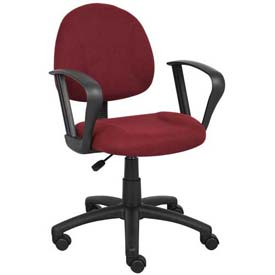 Boss Deluxe Posture Chair with Loop Arms Burgundy