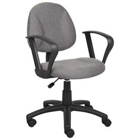 Boss Deluxe Posture Chair with Loop Arms Gray