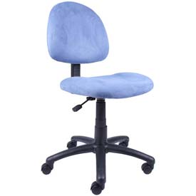 Boss Office Chair - Microfiber - Mid Back - Blue