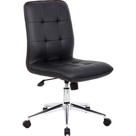Boss Modern Office Chair - Vinyl - Mid Back - Black