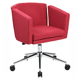 Boss Metro Club Linen Desk Chair, Marsala Red by