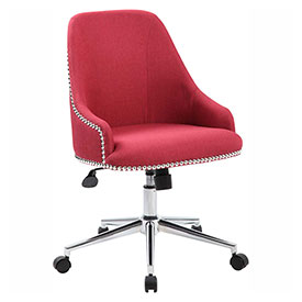 Boss Carnegie Linen Desk Chair, Marsala Red by
