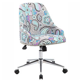 Boss Carnegie Linen Desk Chair, Paisley by