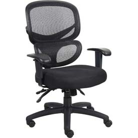 Multifunction Mesh Task Chair - Fabric - Black