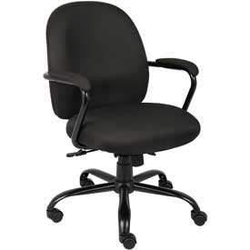 Boss Heavy Duty Task Chair - Fabric - Mid Back - Black