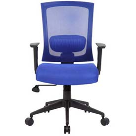 Boss Mesh Back Office Chair with Arms - Fabric - High Back - Blue