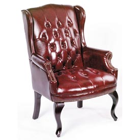 Boss Wingback Traditional Guest Chair - Burgundy