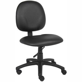 Boss Task Chair - Vinyl - Mid Back - Black