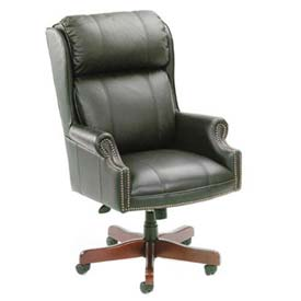 Boss Traditional Office Chair - Vinyl - High Back - Black