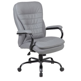 boss big and tall office chair with arms and pillow top vinyl high