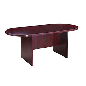 "Boss 71""W x 35""D Racetrack Conference Table, Mahogany"