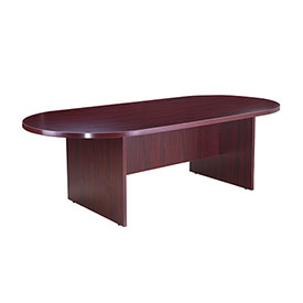 "Boss 95""W x 47""D Racetrack Conference Table - Mahogany"