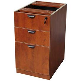 "Boss Deluxe Pedestal, Box/Box/File, 15-1/2""W x 22""D, Cherry"