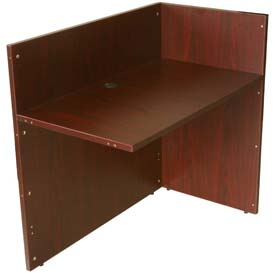 "Boss Reception Return Shell 42""W x 24""D, Mahogany"