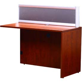 Boss Plexiglass Reception Return, Cherry