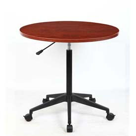 "Boss Round Mobile Table - 32"" - Cherry - Pkg Qty 2"