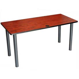 "Boss 72"" x 24"" Rectangular Training Table, Cherry"